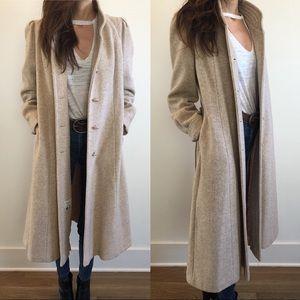 Vintage wool and cashmere blend coat